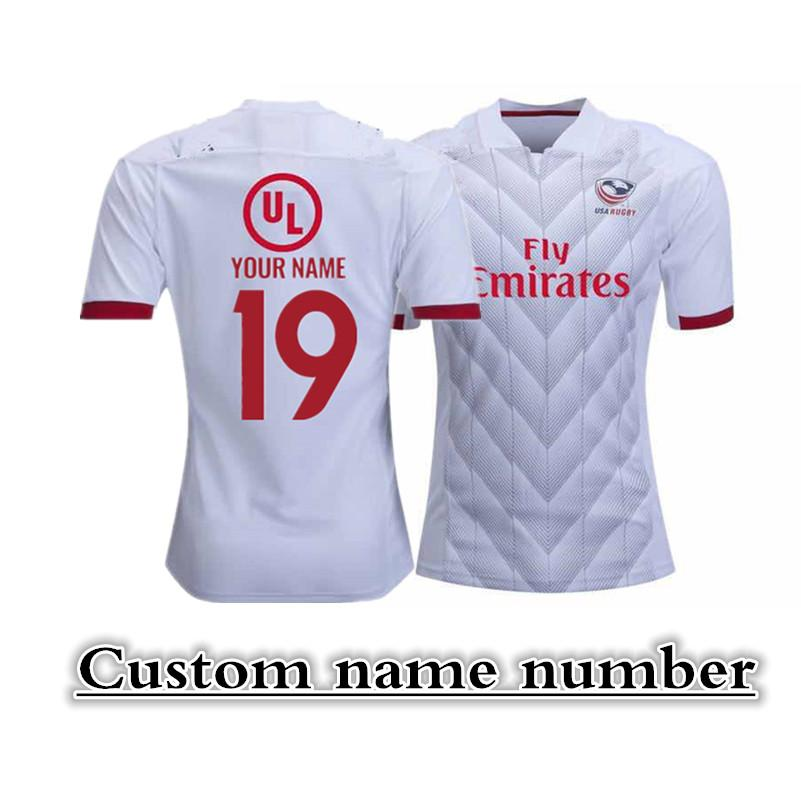 2019 USA RUGBY HOME JERSEY Size: S--3XL Print custom name number The quality is perfect. Free Delivery