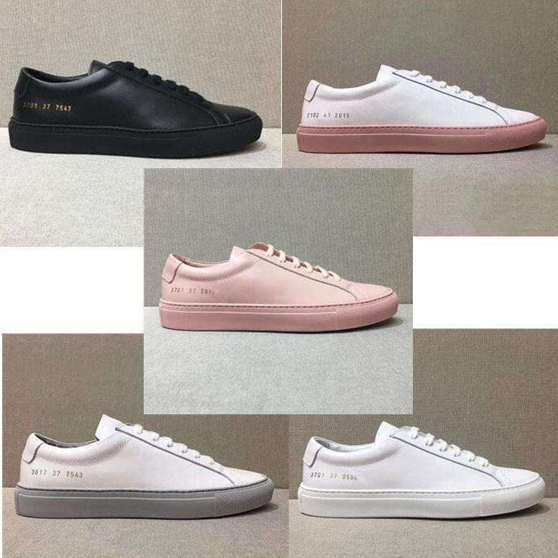 Классический черный белый розовый Повседневная обувь кожаная мода роскошный дизайнер Женская обувь мягкая воловья кожа человек плоские прогулки спортивная обувь размер US35-US45