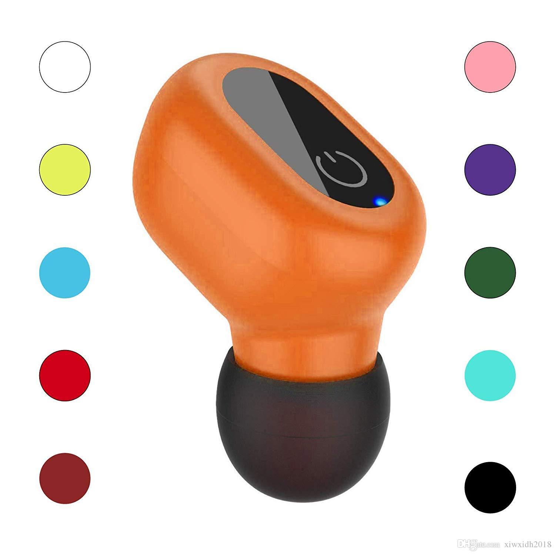 À prova d 'água Sweatproof Anti-noice Condução Esporte Handsfree Chamando Bluetooth Fone de Ouvido Fone de Ouvido com Microfone HD para Celular Tablet Laranja