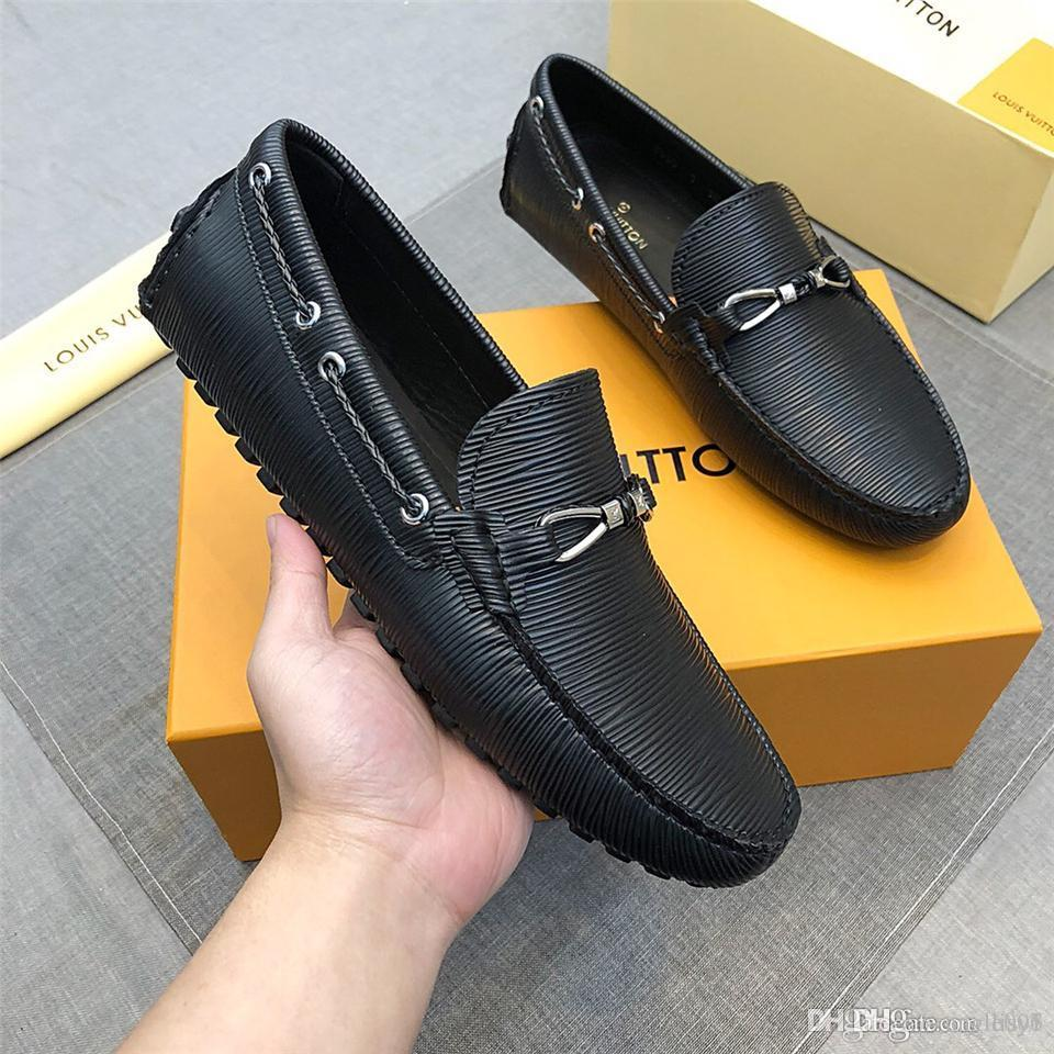 19ss 2019ss men genuine leather business shoes luxury design high quality grind arenaceous leisure and business dual purpose non-slip 2 colo