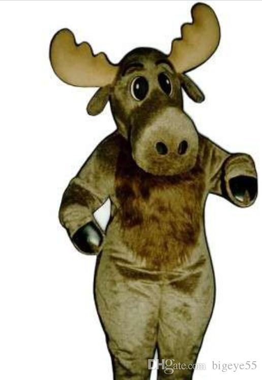 Big nose moose mascot costume Character Costume Adult Size free shipping