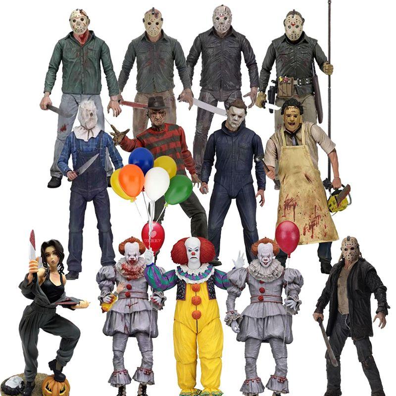 Michael Myers Freddy Krueger Pennywise NECA 3D Sexta-Feira 13 Jason Leatherface Chainsaw John Carpenter Ação Joker Figura Toy T191226