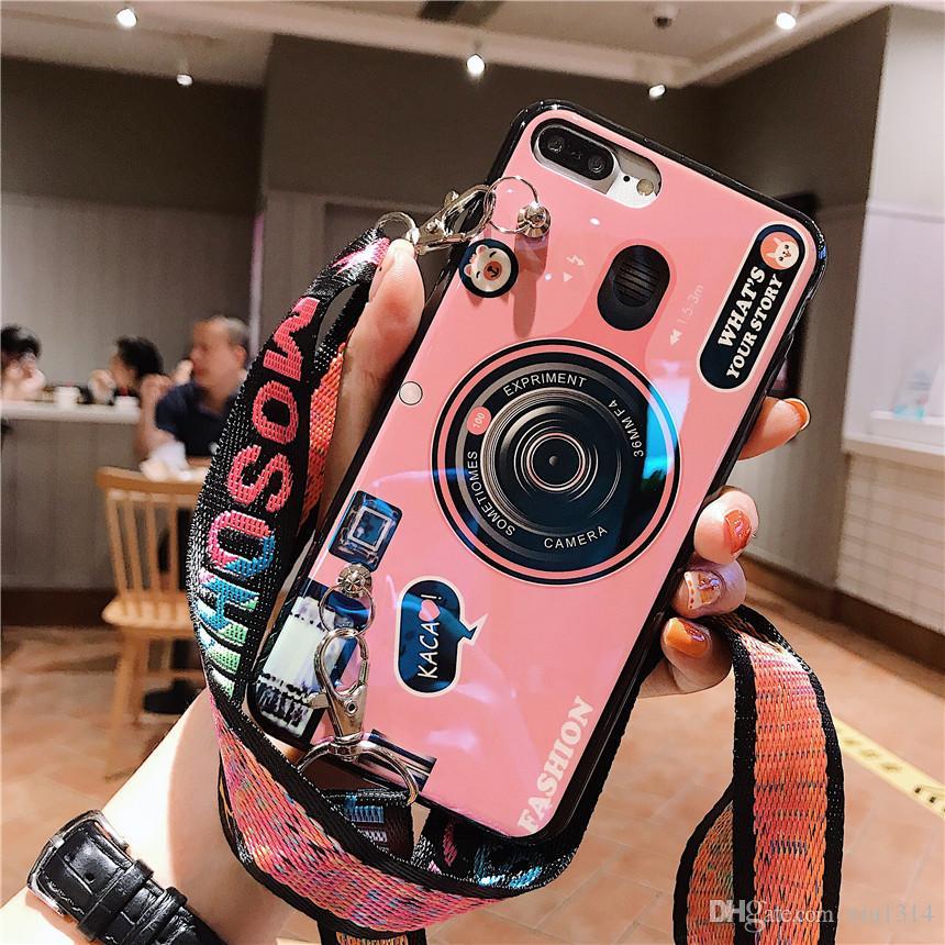 Camera del giocattolo della cassa del telefono per Huawei P40 Pro P30 P20 Lite Nova 5T P Smart For Mate 30Pro 30 20 Lite 20Pro Designer Caver con laccio