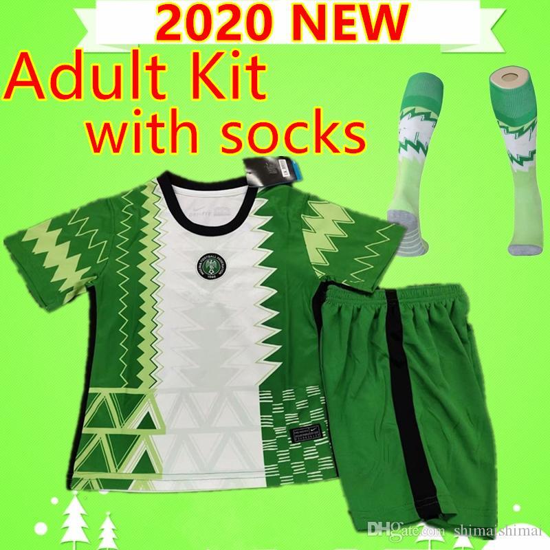 Kit adulte avec chaussettes 2020 costumes de soccer 20 21 Okechukwu OKOCHA AHMED NIGERIA MUSA MIKEL 2020 Iheanacho 2021 hommes ensembles Chemises de football