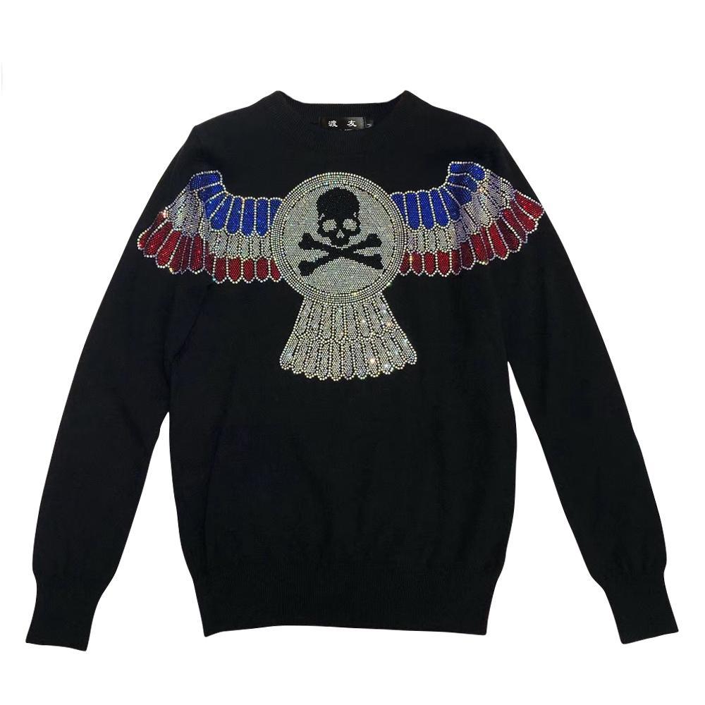Lana DUYOU nueva marca para hombre del suéter de diseño del suéter de la manera del otoño de manga larga de punto suéter hombres suéter ropa de gran calidad