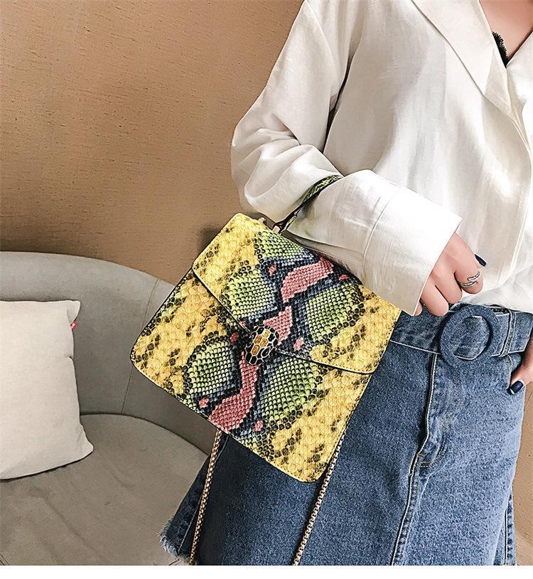 Style européen et américain nouveau motif de serpent conception grande capacité mode sacs à main tendance impression dames sac à bandoulière sac à main en gros