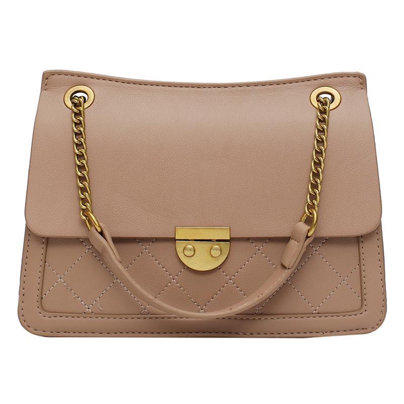Элегантный женский плед сумка 2019 Новая мода высокого качества кожа Женская сумка дизайнер Замок цепи плеча Сумка