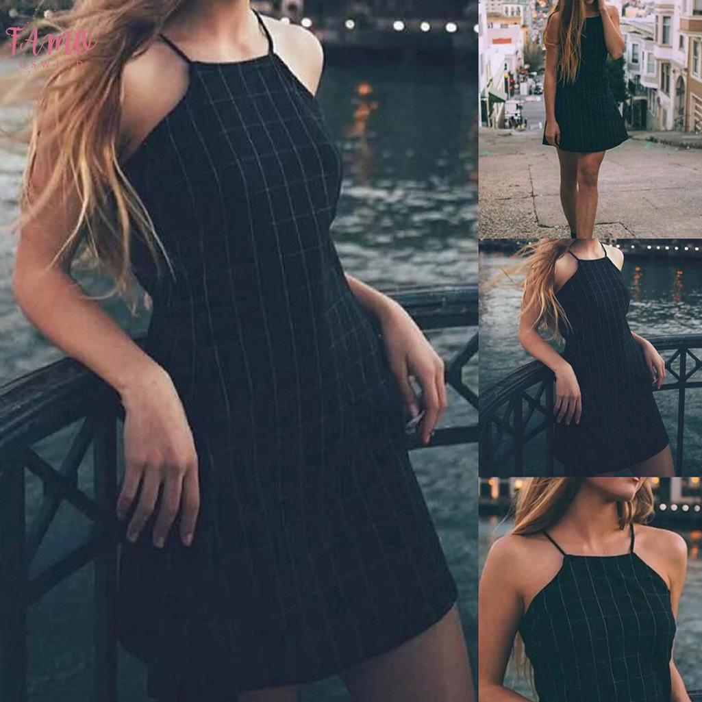 Womens Plaid Sexy Black Dress Vintage Sportswear Back With Mini Dress Club Evening Elegant Dress Coat