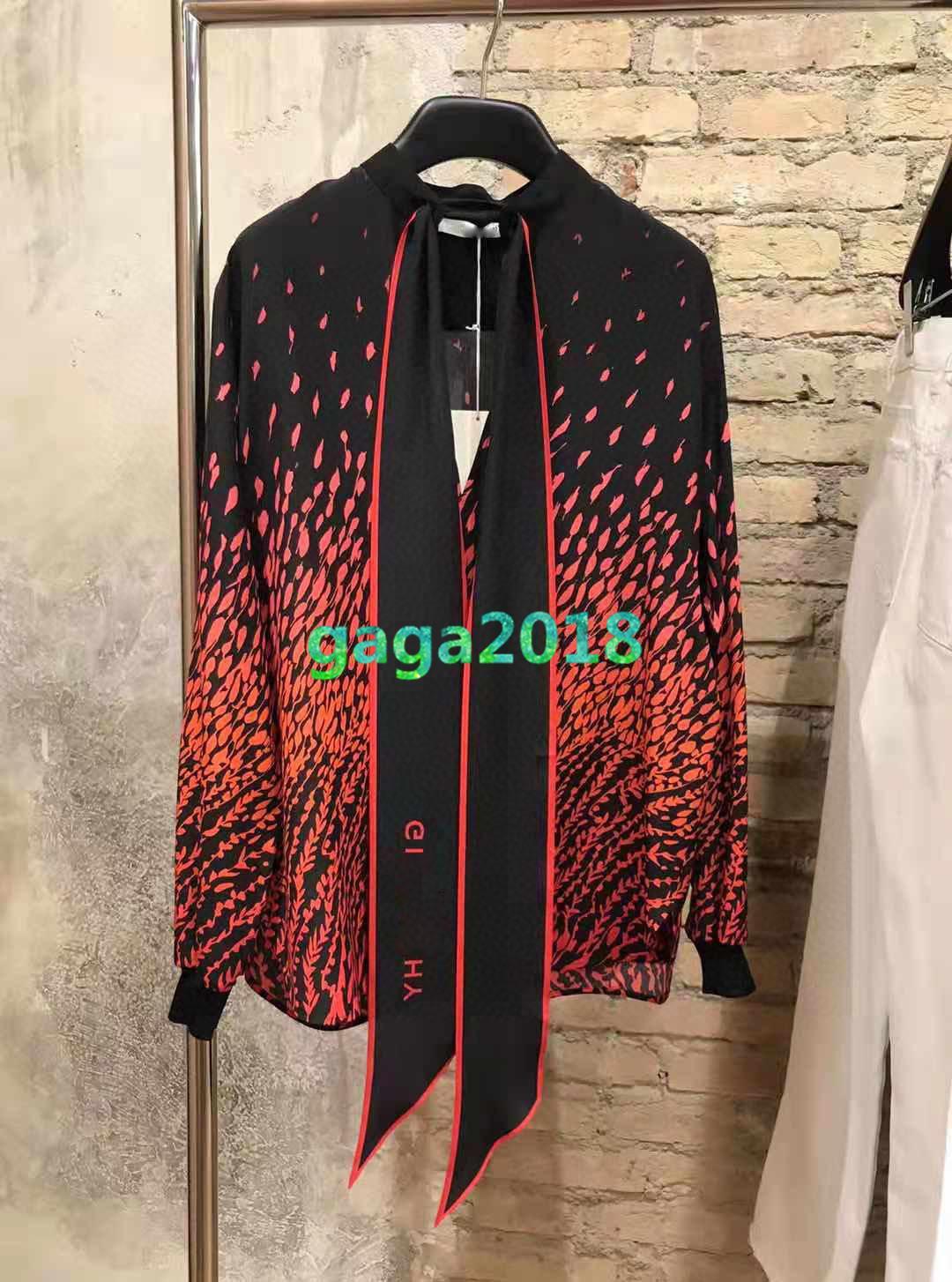 donne ragazze di fascia alta oversize modelli colorblock stampa geometrica monopetto tee manica lunga camicia 2020 donne di modo cime