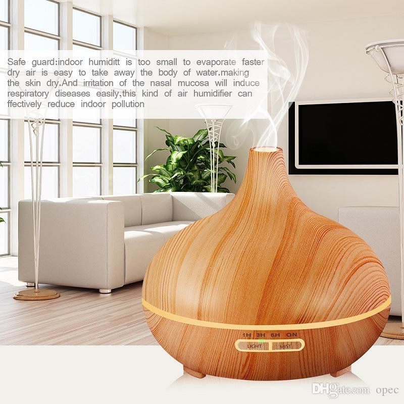 300 ملليلتر الهواء المرطب الضروري النفط الناشر الروائح مصباح العطرية تعود الروائح الناشر الخشب الحبوب المنزلية