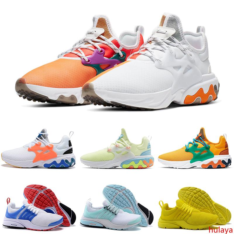 presto react running shoes men women Breakfast DHARMA Triple White Black Yellow Teal Tint Psychedelic Lava mens trainers Sports Sneakers