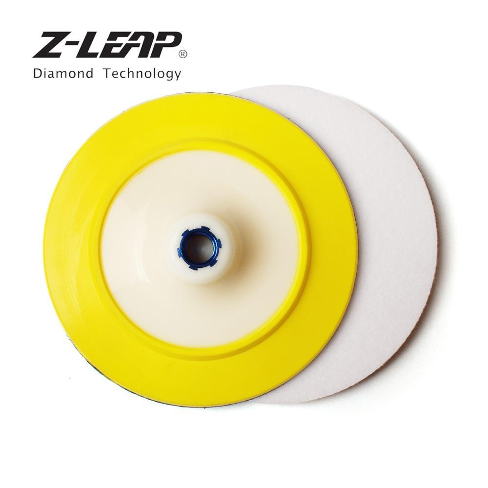 "Z-LEAP 7"" Wool Felt Polishing Pad Buffing Wheel With M14 Or 5/8-11 Thread Backer Pad Glass Plastic Metal Stone Cleaning Sanding"