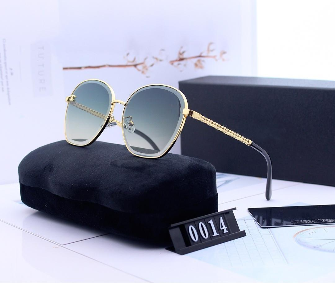 Designed sunglass -2019 women drive high-definition large-frame shaving sunglass with polaroid hd resin lens type 0014