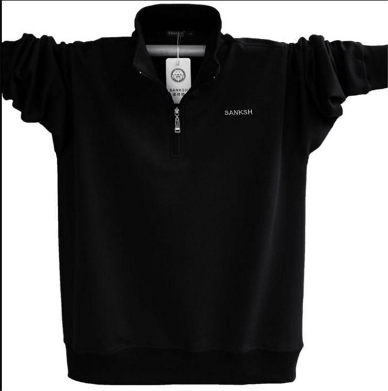 Letra regular Mens Long Sleeve Polo marca de alta qualidade Plus Size gola de algodão Camisas Men Zipper Camisa Polo Masculina Tendência