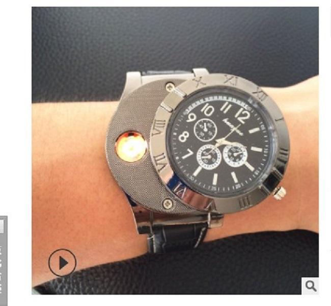 2020 la vendita calda Accendini personali vigilanza creativa di carica orologio sigaretta di vendita diretta più leggero della fabbrica degli uomini del USB del metallo più leggero di