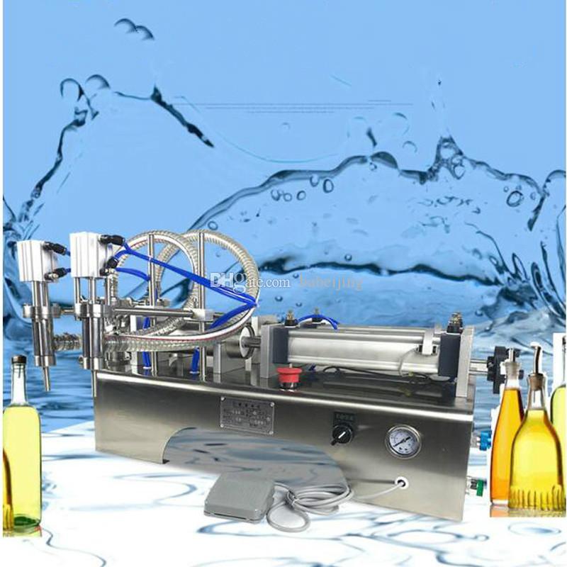 Machine de remplissage automatique pneumatique machine de remplissage liquide quantitative pour la machine de remplissage à tête double de soja du lait de l'huile