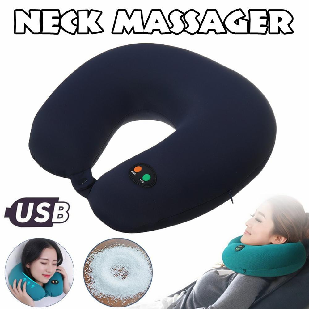 Electric 6-mode U-shaped travel cushion pillow neck massager vibration cervical pillow massage relaxing family car