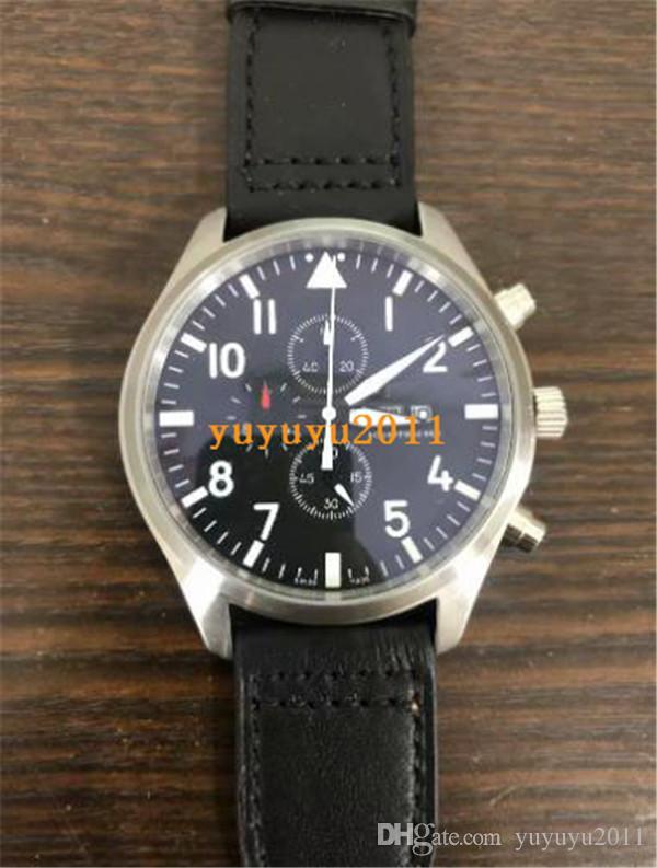 heißer Verkauf Luxusuhr Herren Uhren Quarz movemen Chronograph Lederriemen Mens Mann Uhren ww1109