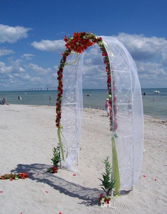 White Metal Wedding Arch Pergola Garden Backdrop Stand Flower Frame Marriage DIY Party Decoration 240x140CM