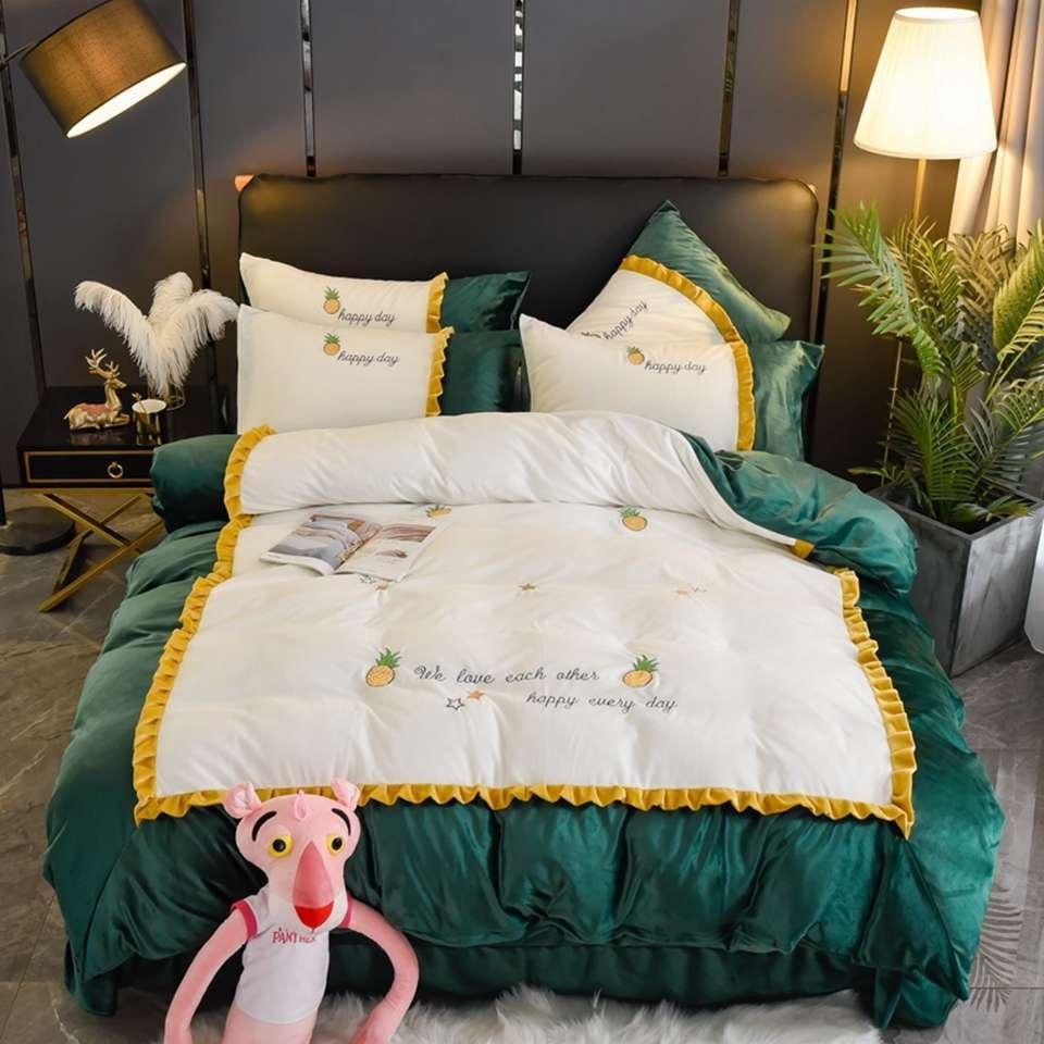 Полный размер Роскошные Постельные принадлежности Кровать стеганое Наборы конструктор King Size Комплект постельных принадлежностей 3 шт Набор комплектов постельного пододеяльник наволочка 1.8M 99