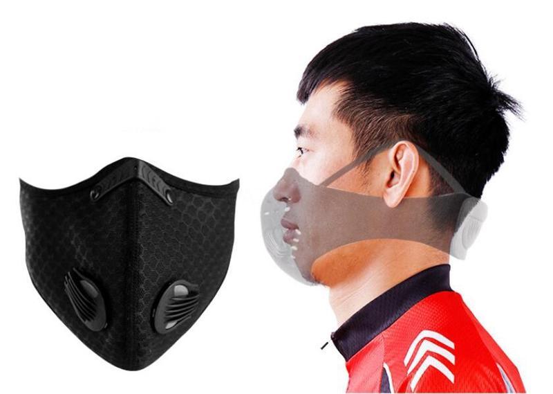 PM2,5 bouche Masque Masque réutilisable avec la respiration Valve K Lavable bouche visage En Stock # QA338