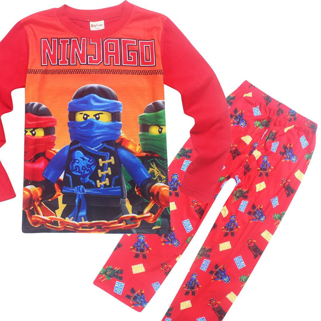 Toddler Kds Boy Ninjago Sleepwear Ninja Christmas Pajamas For Boys Baby Girls Pyjamas Halloween Party Clothing Children Pijamas J190520