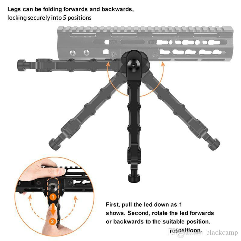 Fucile da caccia Bipod Bolt Action V9 Split Bipod in forma 20mm Piedi Picatinny tattico alluminio gomma 5 Posizionamento Angolo