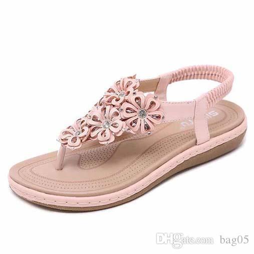 Avec la boîte! Femme de haute qualité Chaussons Sandales Marque Chaussures plates Chaussures glissière chaussures de sport tongs par bag05 PT16