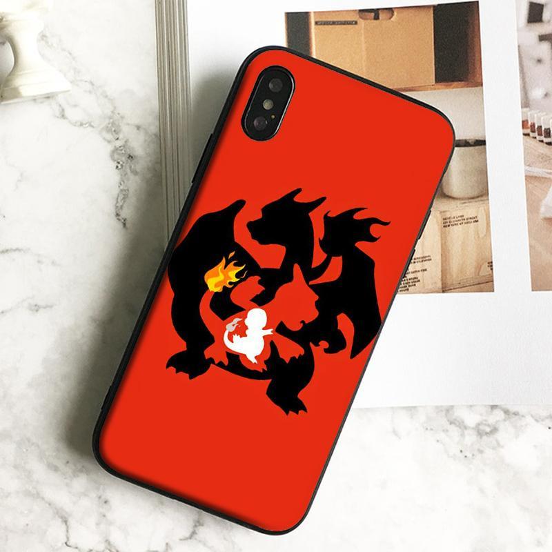 Caja del teléfono del arte del fuego del dragón fundas de lujo para el iPhone 11 7 6s Plus 5 Cubierta de silicona TPU SE Caso suave Negro Pro X Max Xr 8.
