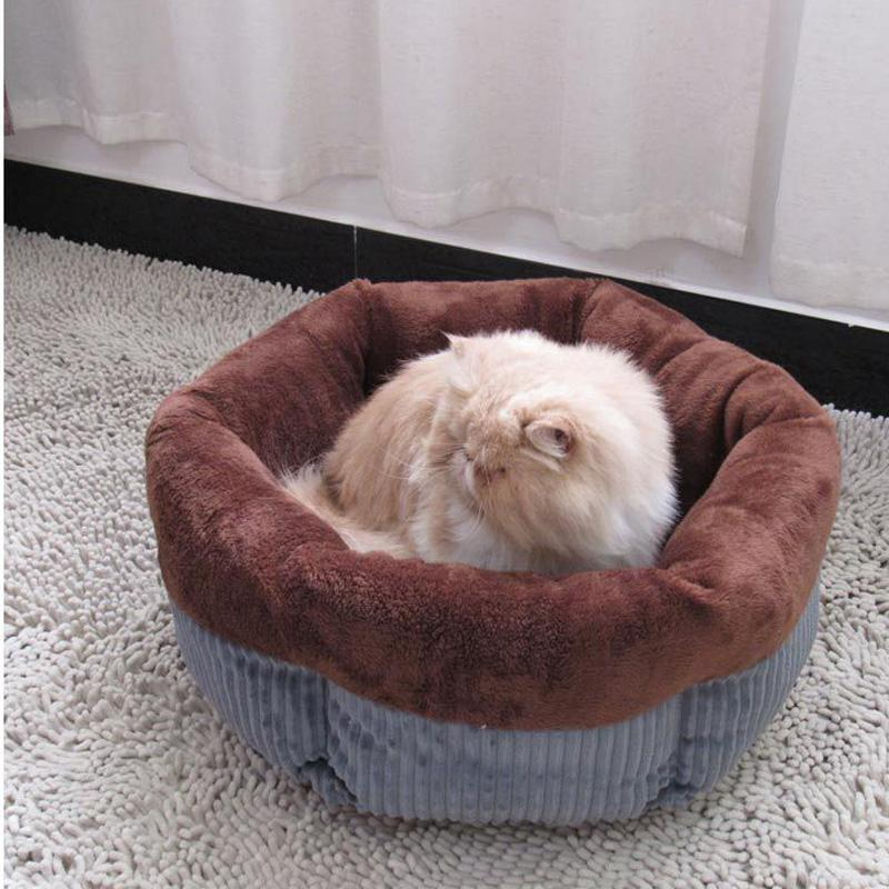 Soft warming dog basket autumn winter pet home for small dog bed cat kitten house hexagonal puppy sleep nest drop shipping