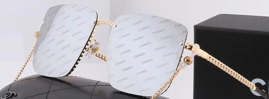 Die neue 2020 großeChanel Rahmen Männer und Frauen dekorative Sonnenbrille Kette Mode Sonnenbrillen-Linsen