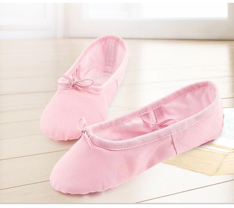 Enfants Ballet Dance Shoes Toddler Semelle Souple Pratique Chaussures Enfants Respirant Toile Ballet Slipper