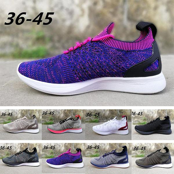 nike air flyknit racer 2 N11-4 Zoom Mariah Fly Racer 2 donne Mens Athletic tutti neri rossi dei pattini casuali verdi tessitura Zoom Racer Sneaker Trainer Size 36-45 8AAYE