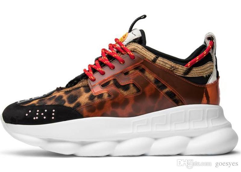 Cadena Moda Deportes Marcas Men En Calzado Shoes Lujo Casual Reacción De Diseñador Zapatillas Al Aire Libre Nuevos 2019 Versace Zapatos F1KJTc3ul