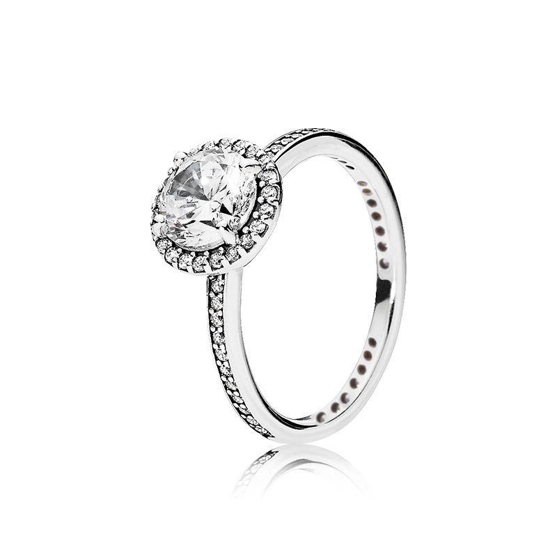 New Classic Eternity Ring Luxuxentwerfer 925 Sterlingsilber CZ-Diamanten für Pandoras elegante Frauen Ring mit ursprünglichem Kasten Geburtstags-Geschenk