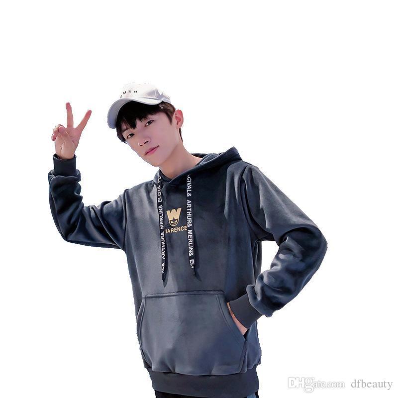 2019 outono inverno dos homens designer de moletom com capuz camisola camisola dos homens moda camisola jaqueta casual solta versão coreana do suéter com capuz