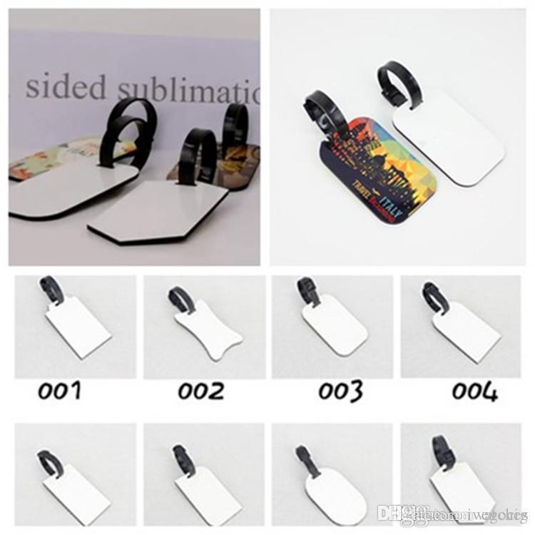 DIY impressão de transferência de calor de bagagem em branco tag sublimação MDF Woodcut flor transferência ornamentos etiqueta de bagagem círculo calor de placas em branco 10 cores