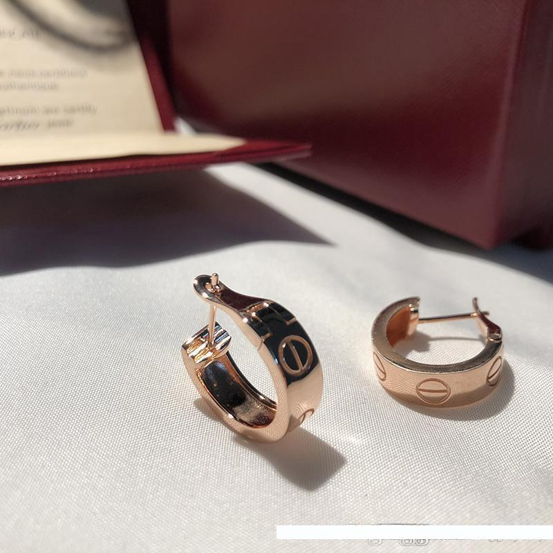 новые дизайнерские серьги роскошные шпильки дизайнерские ювелирные изделия женские серьги des boucles oreilles cart brand love hoop стерлингового серебра 925 пробы orecchini