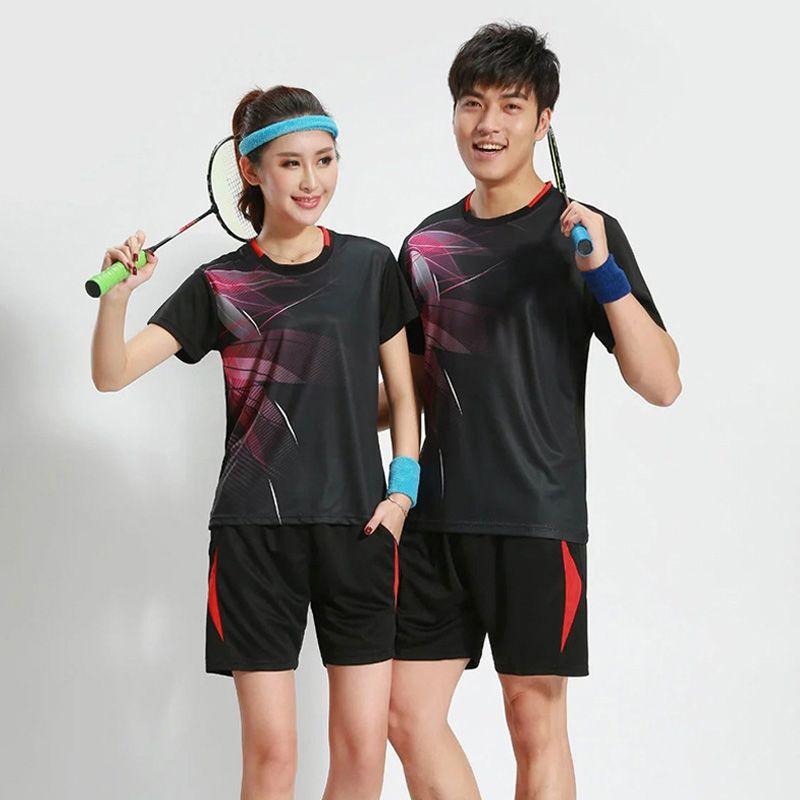 Women / Men Badminton Jersey Breathable Badminton Uniforms Table Tennis Clothes Team Game Sports Jerseys T Shirts & Shorts Set