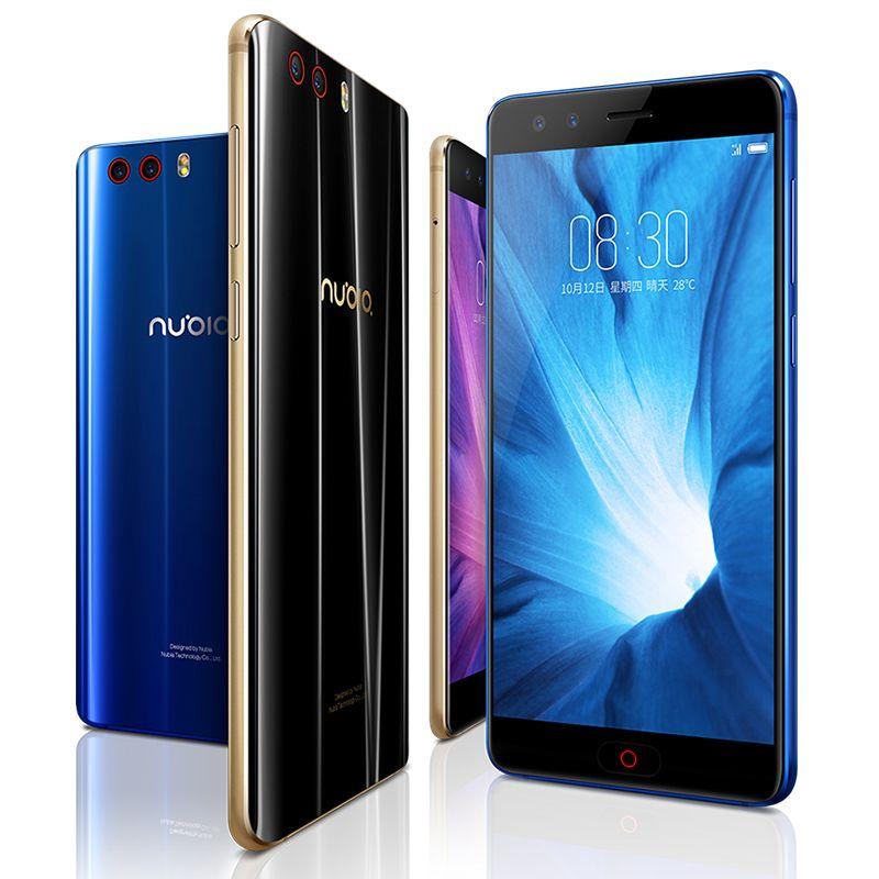 "Original del teléfono celular ZTE Nubia Z17 Mini S 4G LTE 6 GB de RAM 64 GB ROM Snapdragon 653 Octa Core Android Teléfono de la huella digital de 16MP ID NFC móvil 5.2"""