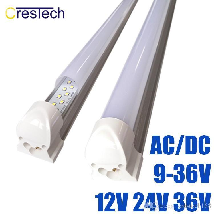 DC/AC 9-36V 4ft led tube lights t8 18w Double Row integrated 12v 36v led cooler lighting 3000K 4000K 6000K 24v Fluorescent bulbs