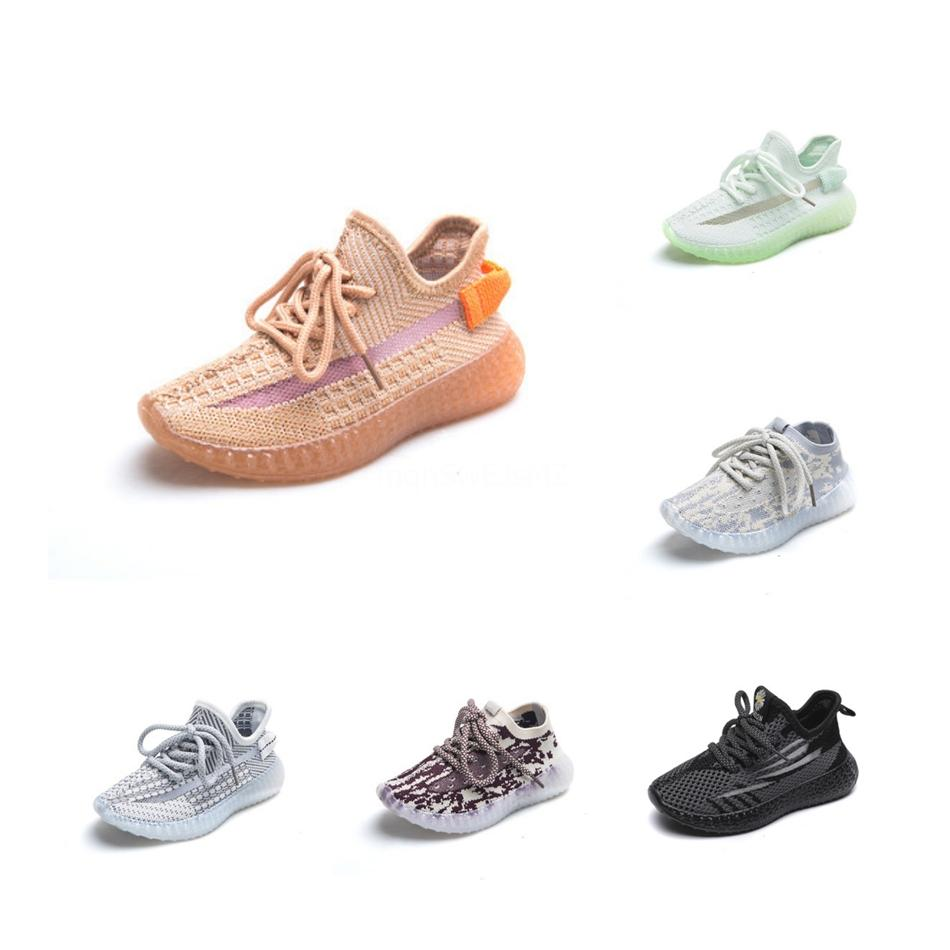 2020 capretti del bambino s argilla V2 statica scarpe riflettente della ragazza del ragazzo Kanye West Beluga 2,0 Sneakers Bambino Trainer bambini pattini atletici # 809 Esecuzione