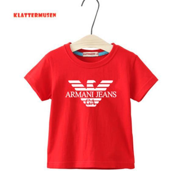 2020 Новые дизайнерские дети футболки хлопок большой мальчик девочка с коротким рукавом рубашки лето одежда детская летние футболки одежда 1-9 лет М12