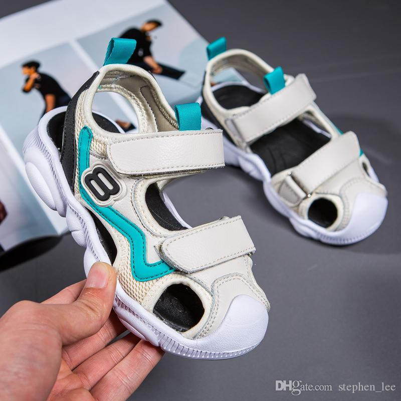 2019 New Fashion Boys Girls Summer Sandals Children Casual Sandals Kids Beach Sandal 5 Colors Size 26-37