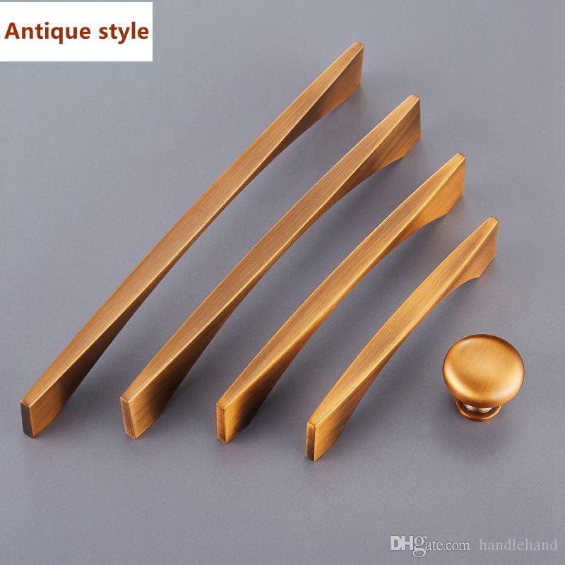 Antigua aleación de zinc Gabinete Perillas de cocina y tirador Tirador Estilo de bronce Cajón Cajón Perilla Tirador Tirador Muebles en stock