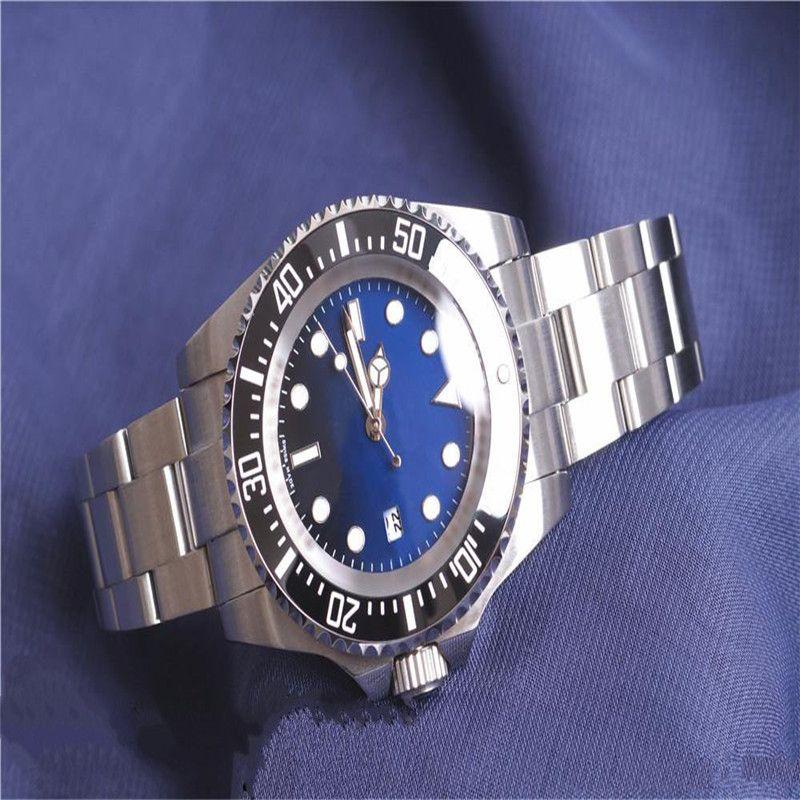 Hot Mens Watch Deep Ceramic Bezel SEA-Dweller 126660 44 mm Stanless Steel Glide Lock Clasp Automatic Mechanical mens Watches Chrono Reloj