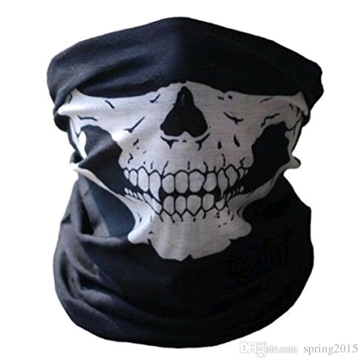 Hot sale Unisex Halloween Cosplay Scarves and Wraps Bicycle Ski Skull Half Face Mask Ghost Scarf Bandanas