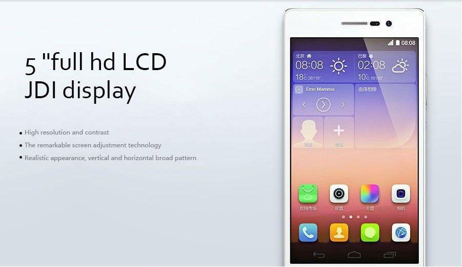 Original Huawei Ascend P7 4G LTE-Handy 2 GB RAM 16 GB ROM Kirin 910T Quad-Core-Android 5.0 Zoll 13.0MP Smart Mobile Phone