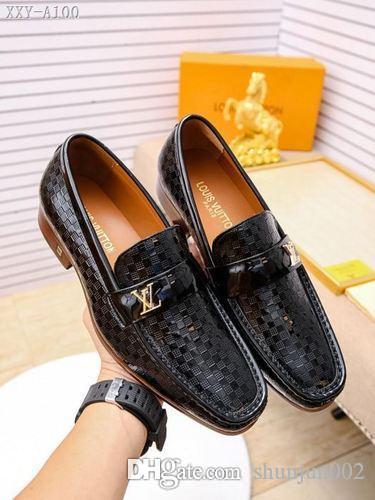 Mélanger 60 modèles chaussures habillées en cuir italien luxe design Top mode daim chaussures hommes fête de mariage en cuir mocassins chaussures à talons taille 38-45