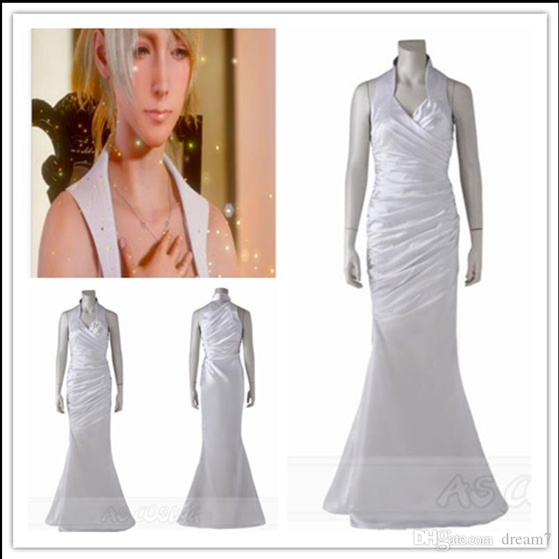Final Fantasy XV Lunafreya Nox Fleuret Princess White Dress